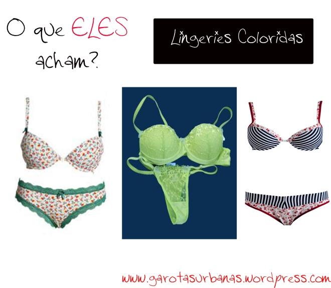 lingeries coloridas