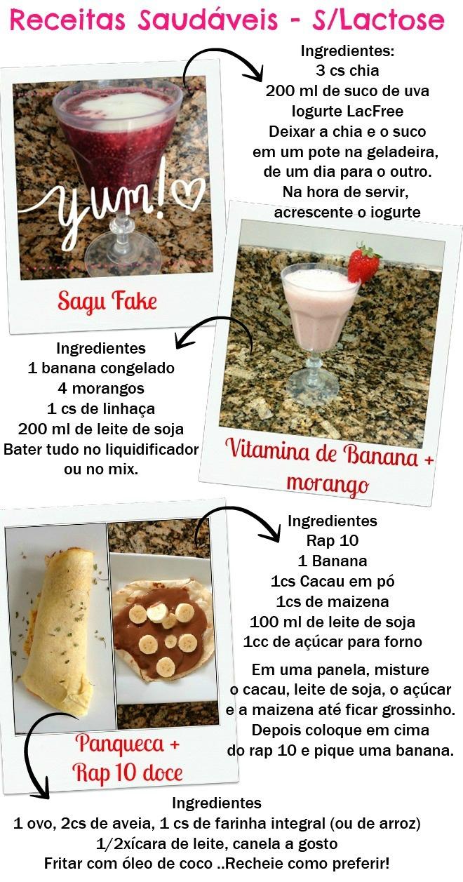 receitas sem lactose e saudaveis